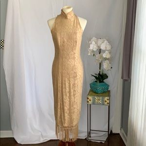 Vintage BB collections dressy size 6 gold lace